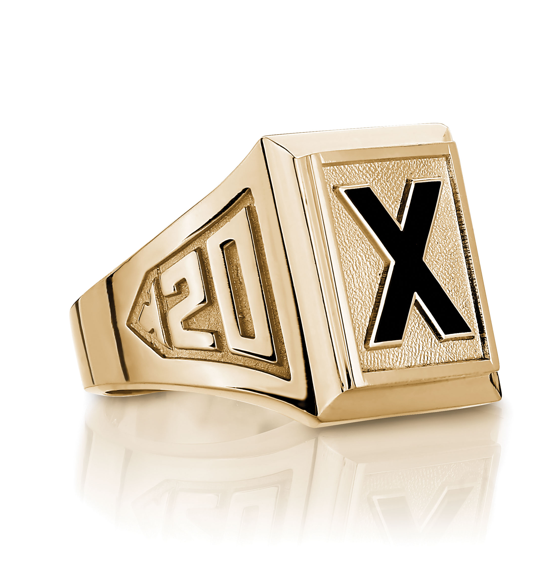 yellow gold x ring store